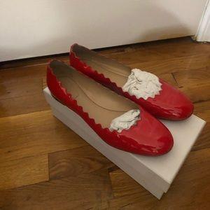 Chloe Red ballerina shoes